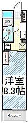 T-アルバII[3階]の間取り