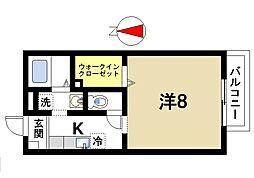 奈良県奈良市尼辻北町の賃貸アパートの間取り