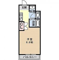 リジェール柳田[103号室号室]の間取り