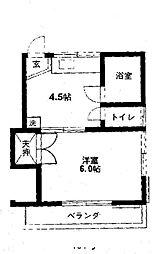第2みのり荘[2階]の間取り