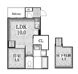 ディアコート深川[1階]の間取り