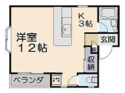 エステートピアIISUZUKI[D-1号室]の間取り