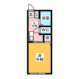 シティハイムグリンピア[1階]の間取り