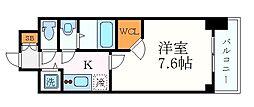 名古屋市営東山線 新栄町駅 徒歩4分の賃貸マンション 12階1Kの間取り