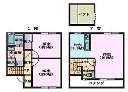 ウィングハウス客田S・Y[B103号室]の間取り