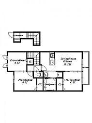リーヴズコートII[2階]の間取り
