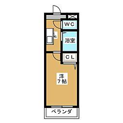 植田山DS・1マンション[2階]の間取り