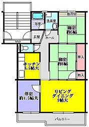 内野東団地[5階]の間取り