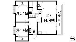 S・Tハウス[1階]の間取り