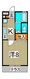 ベルク関II[2階]の間取り