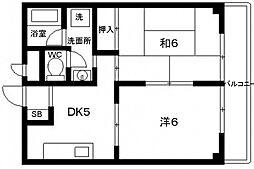 太平第13ビル[402号室号室]の間取り