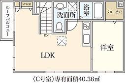 新築T&T Matsugae[C号室]の間取り