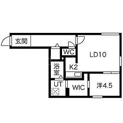 ブルーイング二十四軒[3階]の間取り