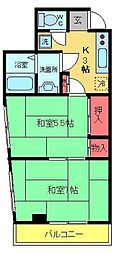 第二並木ビル[201号室]の間取り