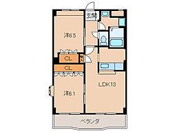 グランヴィア松江[2階]の間取り