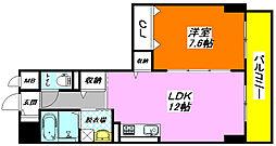 グラン・ユニゾン405号室[4階]の間取り
