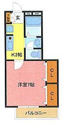 埼玉県さいたま市南区根岸3丁目の賃貸アパートの間取り