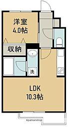 THE IoT Haranomachi β 2階1LDKの間取り