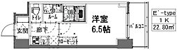 S-RESIDENCE阿波座WEST 4階1Kの間取り
