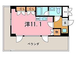 シャトーヨサミ[318号室]の間取り