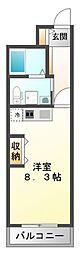 レジュールアッシュ江坂[4階]の間取り