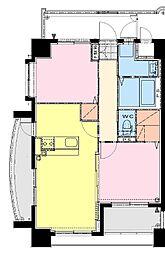仮称)中村東3丁目マンション 6階2LDKの間取り