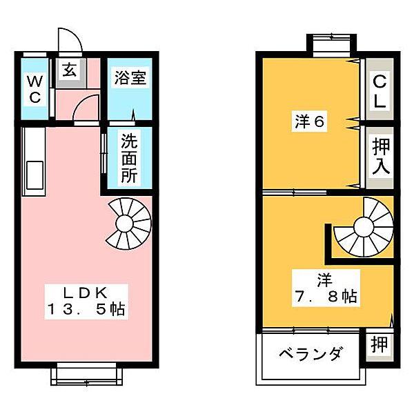 Breeze YAMADA[1階]の間取り