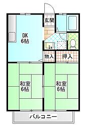 菊地ハイツ[2階]の間取り