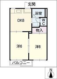 メゾン宮町A・B[1階]の間取り