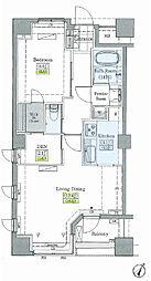 レジディアタワー上池袋(タワー棟) 2階1SLDKの間取り
