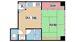 兵庫県神戸市中央区再度筋町の賃貸マンションの間取り