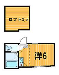 神奈川県川崎市川崎区渡田向町の賃貸アパートの間取り