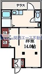 [テラスハウス] 大阪府大阪市東成区中本1丁目 の賃貸【/】の間取り