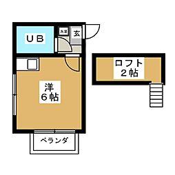 ロフティ中江II[2階]の間取り