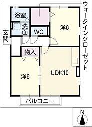 プラムI[1階]の間取り