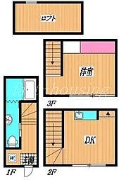 西武新宿線 上石神井駅 徒歩6分の賃貸マンション 1階1DKの間取り