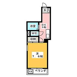 ルーセント[4階]の間取り