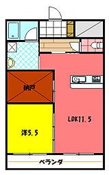 宮崎県小林市大字細野の賃貸マンションの間取り
