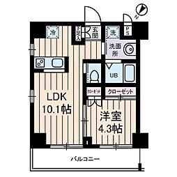 プレデパルク3[4階]の間取り