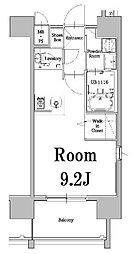 西鉄貝塚線 香椎宮前駅 徒歩6分の賃貸マンション 6階ワンルームの間取り