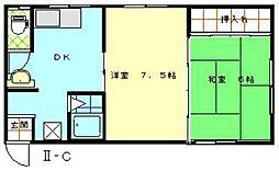 コーポドリマII[C号室]の間取り