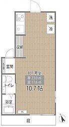 東京メトロ有楽町線 江戸川橋駅 徒歩8分の賃貸アパート 1階ワンルームの間取り