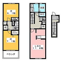 サン・ルーチェ[2階]の間取り
