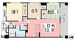 プレステージ姫路サザンコンフォート[202号室]の間取り