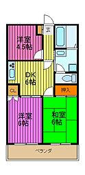 シミュレーINAGAKI[201号室]の間取り