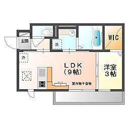 仮)D−room京町[3階]の間取り