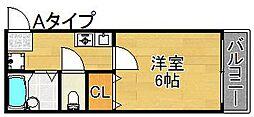 レスポワール御崎[3階]の間取り