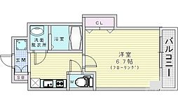 Osaka Metro谷町線 都島駅 徒歩7分の賃貸マンション 9階1Kの間取り