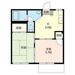 フローラル ハウス[1階]の間取り
