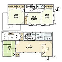 [一戸建] 埼玉県さいたま市南区文蔵5丁目 の賃貸【/】の間取り